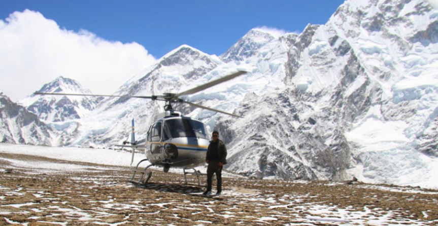 Heli Tour around The Top of The World